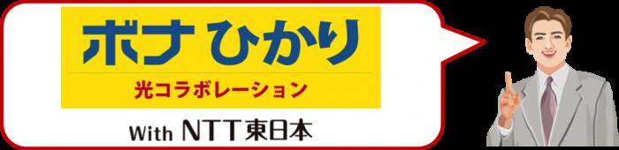 NTT東日本のコラボレーションによる光回線サービスです